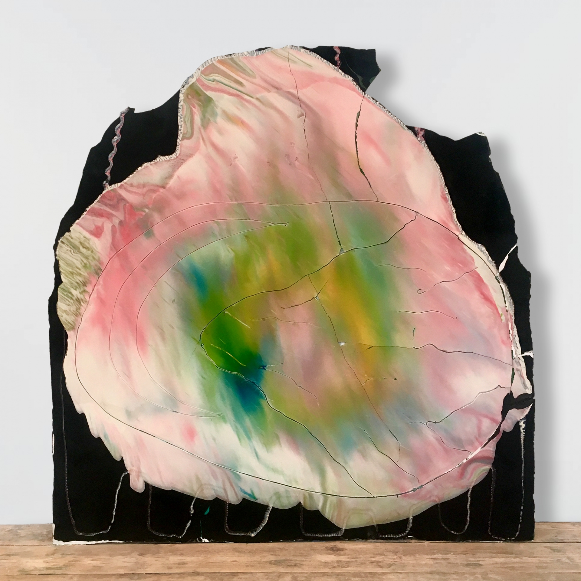 Mountain and Mercies 2018 ////// polymer, plaster, pigments, oil, wax ////// 100cm x 120cm