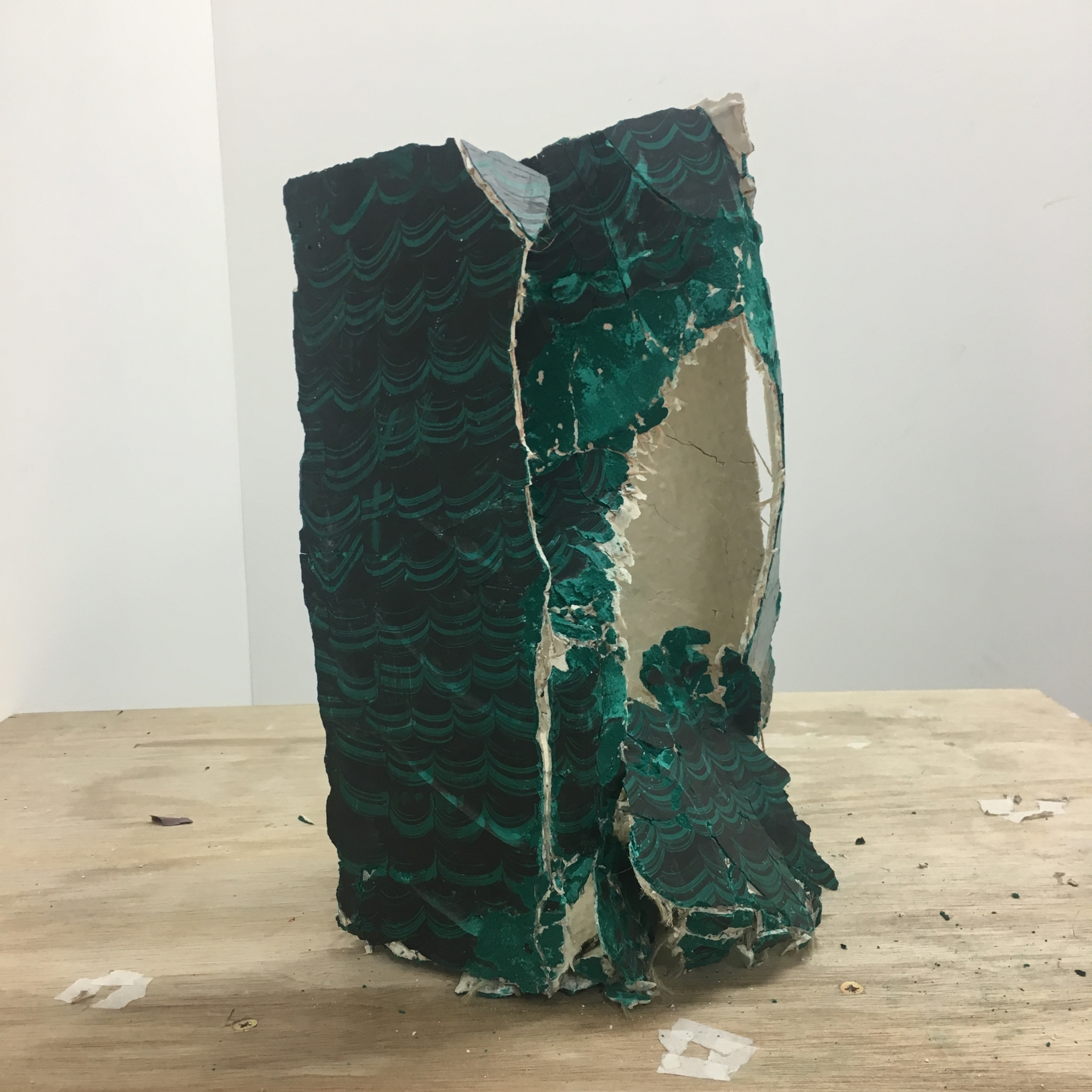 Wave From The Dragons Gut 2017 ////// polymer, plaster, pigments, oil, wax ////// 42cm x 34cm