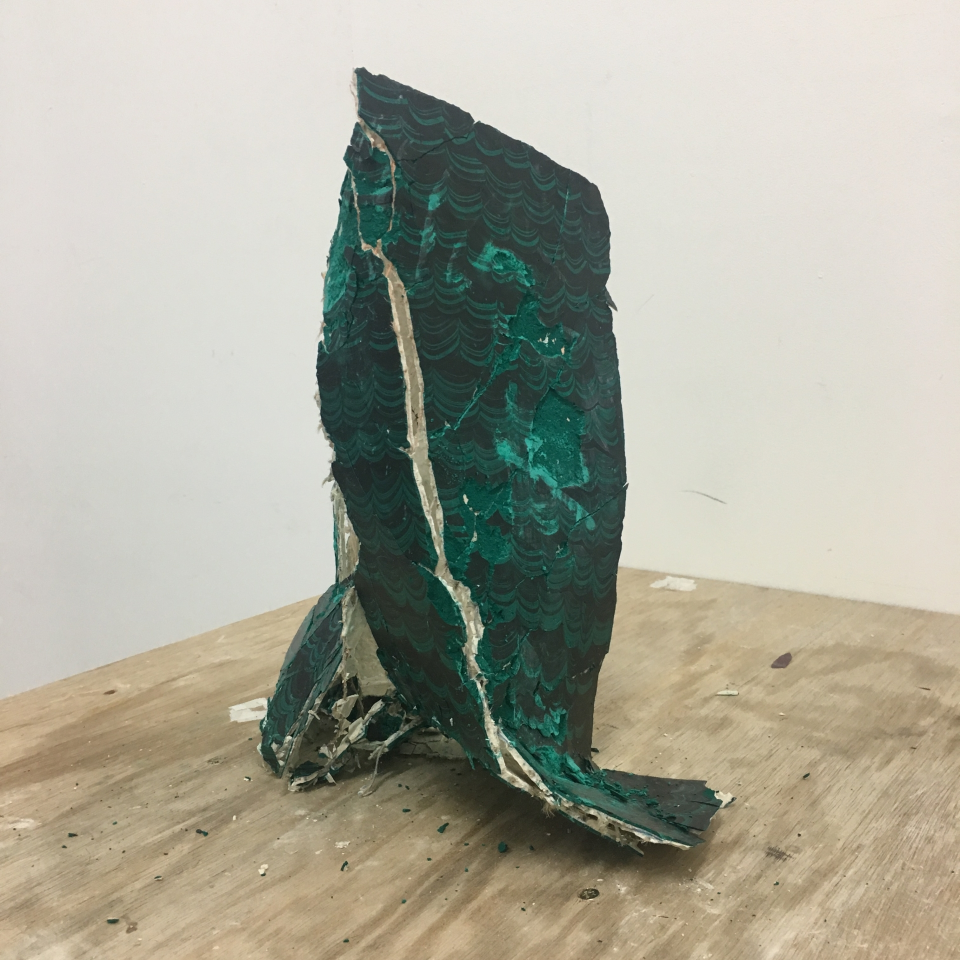 Harminder Judge > Wave From The Dragons Gut 2017 ////// polymer, plaster, pigments, oil, wax ////// 42cm x 34cm